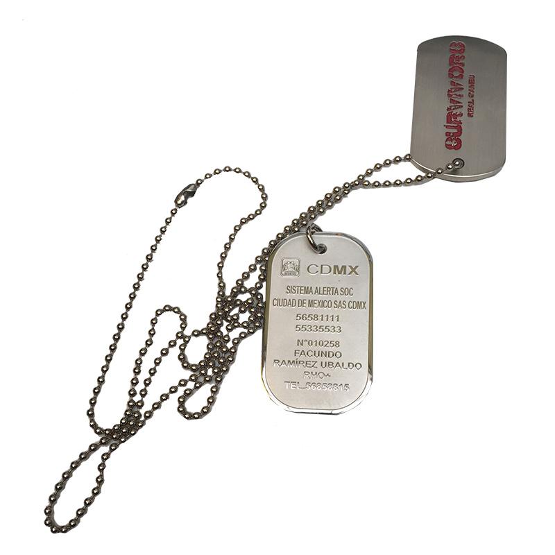 2d1dadec8c1f Medallas de identificacion o pulseras tipo militar (dog tag) - VAM ...